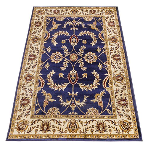WEBTAPPETI.IT Tappeto Classico Ziegler Tappeto Disegno Persiano Blu Salon 716-BLU 70X300