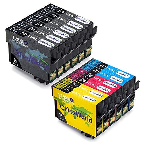 OfficeWorld Sostituzione per Epson T1281 T1282 T1283 T1284 T1285 Cartucce d'inchiostro Compatibile...