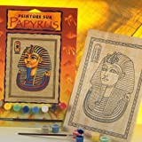 KSG Gold Mask Of Tutankhamen Papyrus Painting