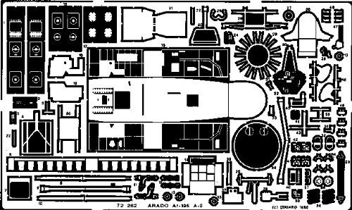 Eduard Accessories 72262Modelo Diseño Accesorios de Arado AR 196a de 2