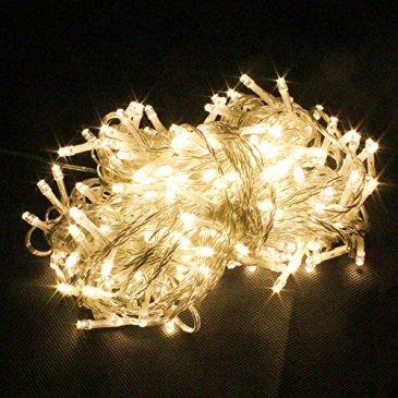 PMS® CHAÎNE LUMIÈRES DE NOËL LUMINEUX LED 500 LEDs 52 M LUMIÈRE LUCCIOLE CONTROLLER AVEC 8 FONCTIONS IDÉAL POUR NOËL ANNIVERSAIRE FÊTE