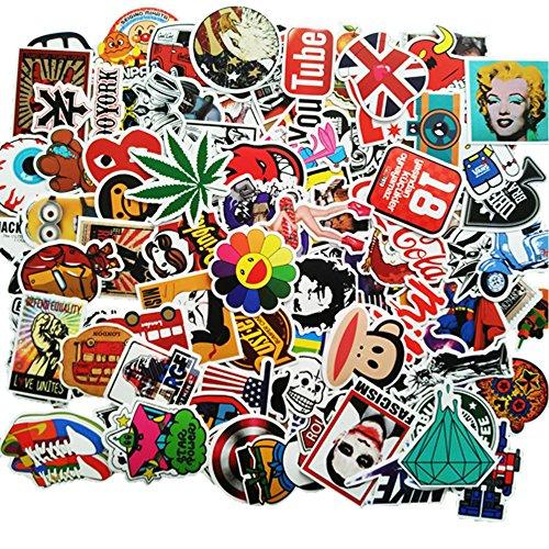 Sticker [100-Pcs] Stickers Vinili/Graffiti Sticker/Adesivo casuale, per Laptop, Auto, Moto,...