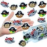 German Trendseller® - 6 x Piraten Radierer für Kinder ┃ NEU ┃ Schatzsuche ┃ Kindergeburtstag ┃ Mitgebsel ┃ Ahoi Mix ┃ 6 Stück