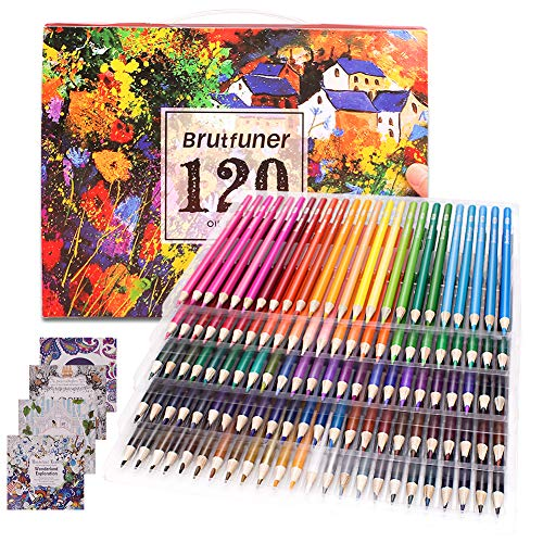 120 matite colorate con 4 libri da colorare, Set regalo ideale per adulti, bambini, studenti,...