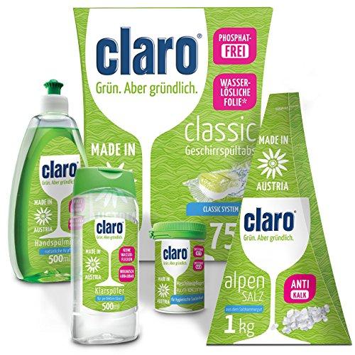 claro '5 in 1 Professionale' Set pulizia della lavastoviglie, Pasticche Lavastoviglie, Sale,...