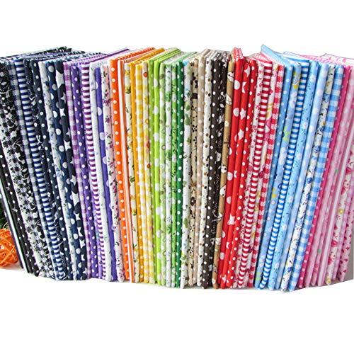 56pieces 25cm * 25cm No Repeat Design stampato tessuto di cotone floreale per patchwork, tessuti per...