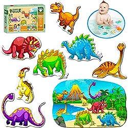PeterPon Puzzles para niños de 3 años de Edad, Dinosaurios Juguetes, Puzzles para niños, Puzzle de Dinosaurio Jumbo para niños de 3 años, Puzzles de Sierra para niños y Juguetes para niños de 3 años.