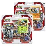 Pokemon TCG: el sol y Luna carmesí invasión 3 Pack Booster - Lucario & Decidueye