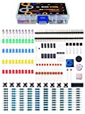Quad Store Mini Electronics Components Kit With Buzzer, Button, Leds, Potentiometer, Resistor, Capacitor
