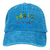 Gorra Cactus Azul Eléctrico Diseño De Cactus Adelante