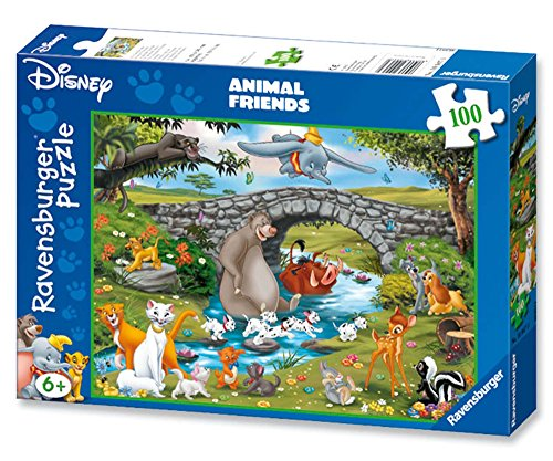 Ravensburger 10947 Animal Friends- Puzzle da 100 pezzi (XXL)