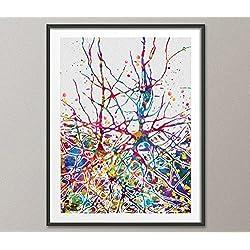 Red Neuronal Watercolor