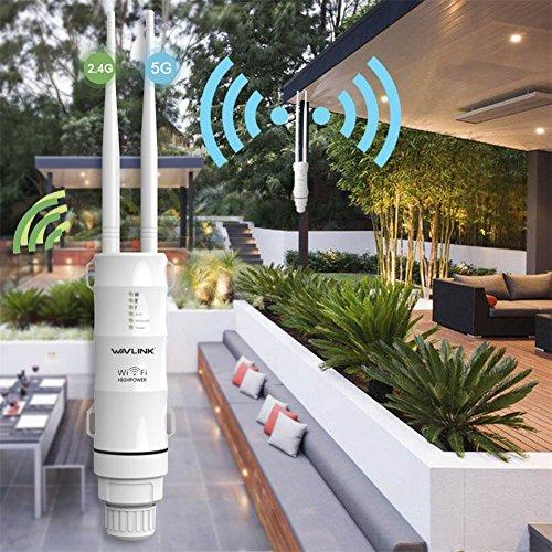pangyan990 Prolunga per Esterni CPE/WiFi Resistente all'Aria Aperta/Access Point/Router/WISP 2,4 GHz...
