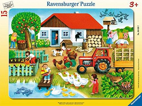Ravensburger 06020 Cosa va dove?- Puzzle incorniciato da 15 pezzi