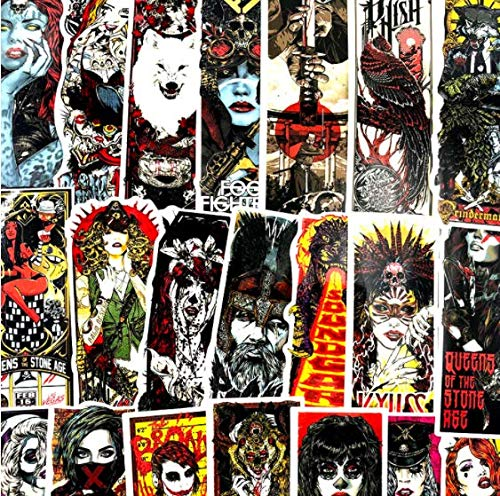 DZCYAN 50Pcs/Set Horror And Thriller Style Gothic Wind for Luggage Motorcycle Laptop Refrigerator...