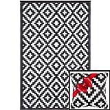 Ambientair R150240NEA Alfombra Exterior, Negro, 150 x 240 cm
