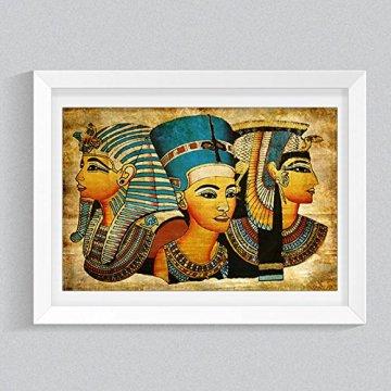 Arte de la Pared de la Lona,   Antiguo Egipcio Mural Completo de la Pintura al óleo 40 * 60Cm Egipto Pintura de la Pared Oil-Picture Completo de la Figura Pharaoh Home Decor 5