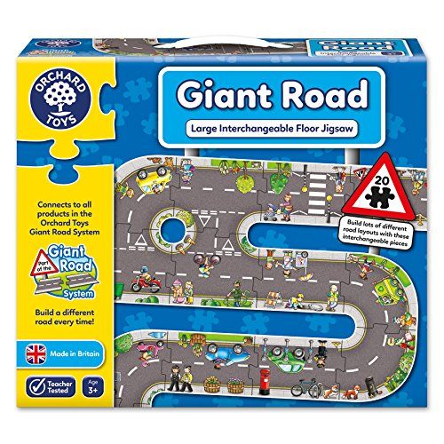 Orchard Toys - La strada, Puzzle gigante, 20 pz. [Lingua inglese]