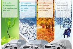 Audew Bâche Auto Housse de Protection Couverture Etanche Soleil Pluie UV Extérieure Pour SUV Voiture 5.3*1.93*1.5m XXL prêt à acheter