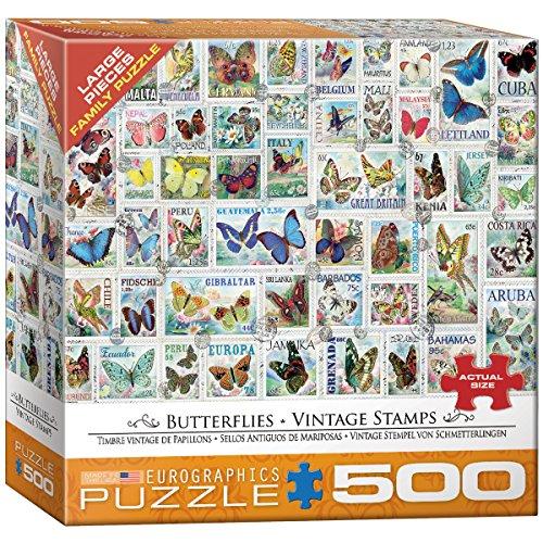 Eurographics 8500-5356 - Puzzle (500 Piezas), diseño de Mariposas Vintage