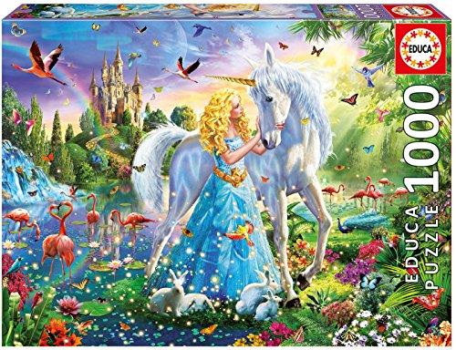 Educa Borras-1000 la Principessa e l'Unicorno Puzzle, Colore Various, 17654