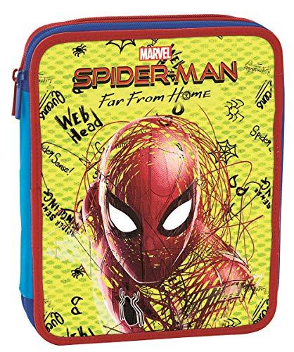 Astuccio Maxi Marvel Spider-Man, Rosso, Con materiale scolastico: 18 pennarelli Maxi, 18 pennarelli...