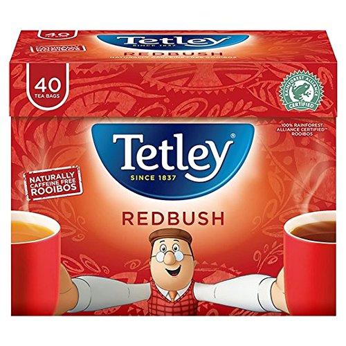 Tetley redbush tea (rainforest alliance) (rooibos tea) (40 bags) (brews in 1-3 minutes)
