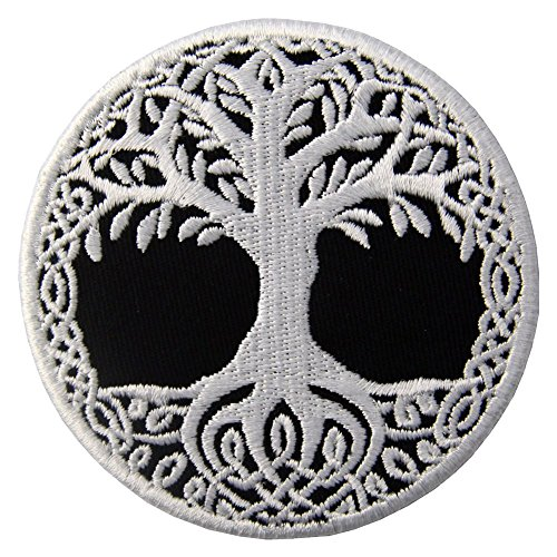 ZEGIN Toppa ricamata da applicare con ferro da stiro o cucitura, tema: Yggdrasil Albero della vita...