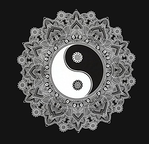 Blanco Y Negro Yin Yang Tapiz Colgante De Pared Mandala Tapiz Reina