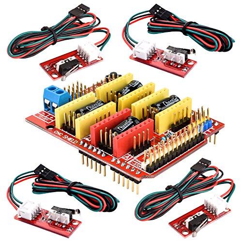 61dHXHAyQAL - Kuman Profesional Impresora 3D CNC Kit para Arduino, GRBL CNC Shield con UNO-R3 Board + RAMPS 1.4 Interruptor Mecánico Tope + DRV8825 GRBL Motor Paso a Paso Controlador de Calor + Nema 17 KB02