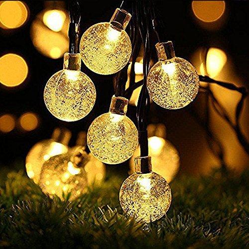 OxyLED Catena Luminosa Solare,30 LED Ghirlanda LED Energia Solare,6m LED Stringa Esterno...