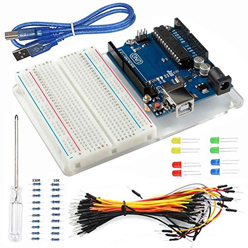 Whether you are a new or experienced runner. You need a kit like that. This ultimate Starter kit for Arduino Uno includes all of necessary components to lead you start own Arduino projects.Package Included: 1) UNO R3 Controller Board x1 2) Br...