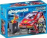 Playmobil- Pompier avec véhicule d'intervention, 9235
