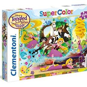 Clementoni- Princess-Rapunzel Puzzle, 104 Piezas, Multicolor, única (27084)