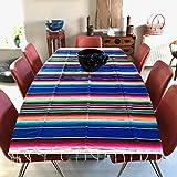Unique! -Mexican Design- Handgewebte Tagesdecke Oder Tischdecke von Oaxaca, Mexiko Blau 120x 200cm 120 x 200 cm/47.5 x 80 inch Blau