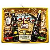 Präsentkorb für Feinschmecker gefüllt  Geschenkkorb für Männer und Frauen   Feinkost-Presentkorb glutenfrei und mediteran
