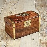 Rusticity Jewelry Box di legno decorativa–elefante, | realizzata a mano | (5x 3in)