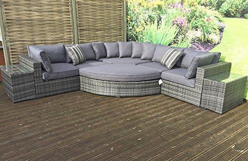 Firma trama Jessica grigio con divano ad angolo