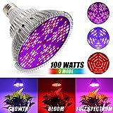 Iluminación para Plantas 100W Led Grow Bombilla Espectro Completo Led Grow Bombilla E27 150 Leds Planta lámpara para las plantas de interior flores y verduras