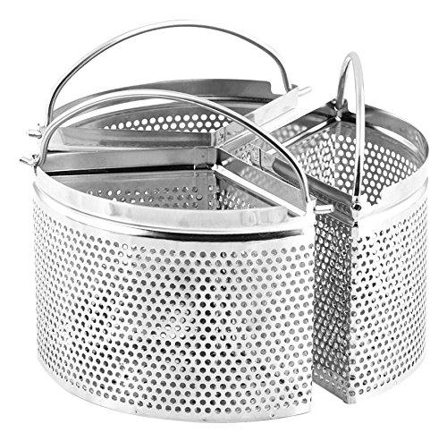 H&H Confezione3 Spicchi Inox Alessandro Borghese Tondo Cm18 Utensili da Cucina, Acciaio...