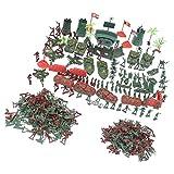 MagiDeal Jouets Modèles Soldats Avion Tank Bureau de l'armée En Plastique Jeux de Simulation Jouet Enfant - 290 pièces