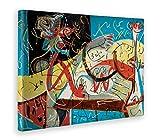 Giallo Bus - Cuadro - Impresion En Lienzo - Jackson Pollock - Stenographic Figure - 100 X 140 Cm