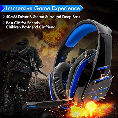 Beexcellent Cuffie Gaming per PS4 PC ... d595310fa2b4