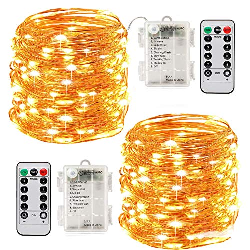 Stringa Luci Led,[2 Pack]Catene Luminose 10 metri 100LEDs Stringa Luci LED Impermeabile IP65 per Uso...