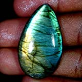 RADHEY KRISHNA GEMS 44.25CTS. 100% natural multi viola flash labradorite pera cabochon pietre preziose
