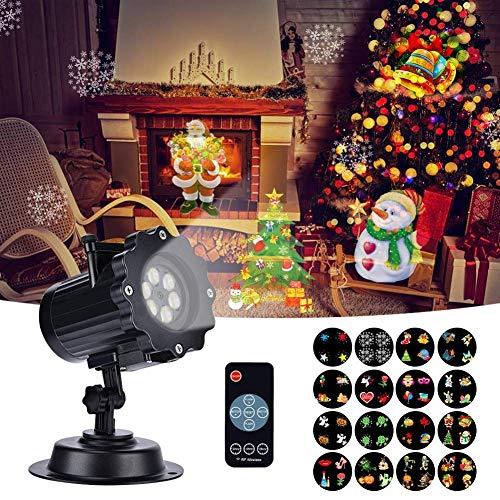 Proiettore Luci Natale, LED Esterno Proiettore con 16 Lenti Intercambiabili 5 Modalità Telecomando...