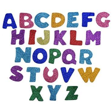 Glitter-Schaumstoff-Aufkleber-Buchstaben-Sticker-Selbstklebend-Buchstaben-Buchstaben-A-bis-Z-5-Set-Mehrfarbig-Insgesamt-130-Stck