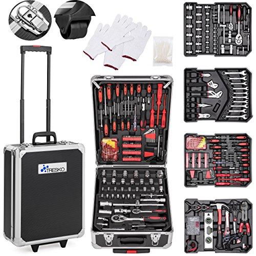 TRESKO Valigia degli attrezzi composta da 949 pezzi | cassetta degli attrezzi | portaattrezzi | set...