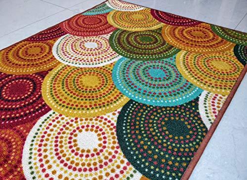 BuyElegant, tappeto antiscivolo a tema arte, realizzato in 100% poliestere e con retro in lattice...