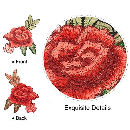 broderie fleur satkago 5pcs ecusson rose ou ecusson coudre pour v tement t shirt jeans veste. Black Bedroom Furniture Sets. Home Design Ideas